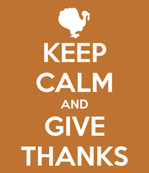 Keep Calm and Give Thanks
